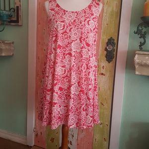Fuchsia floral midi dress